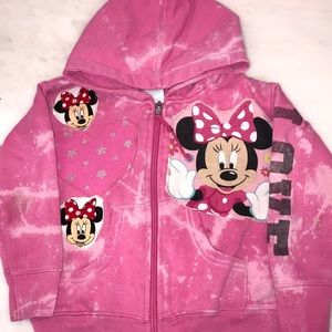 Other - Custom Minnie Mouse zip up sweatshirt